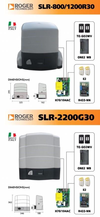 ประตูบานเลื่อนอัตโนมัติ Roger SLR-8001200R30